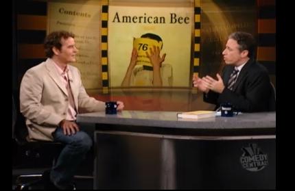 James Maguire with Jon Stewart